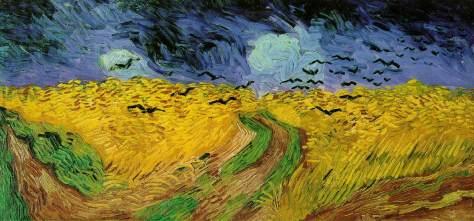 """""""Wheat Field Under Threatening Skies"""", Vincent Van Gogh  (1890)"""