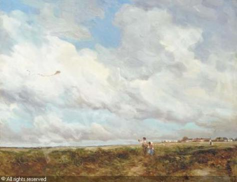 """on the Common, Kite Flying"" by Vickers Deville"