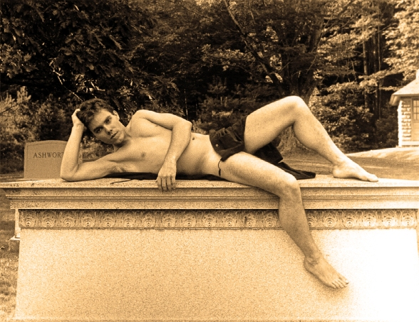 Ian Ayres (Nude on Tomb)
