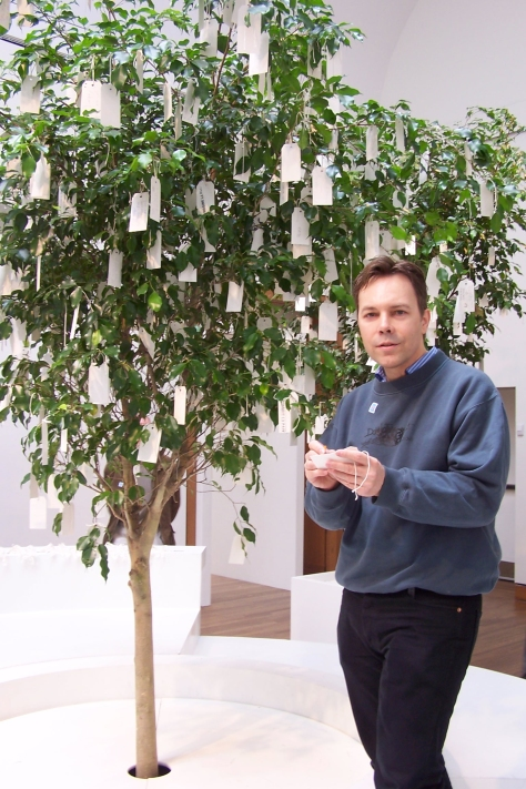 Ian Ayres with Yoko Ono's Wish Tree