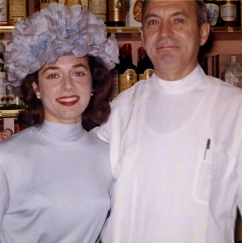 Sondra Farrell and her father Samuel Bazrod
