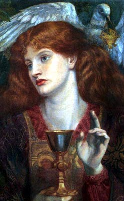 """The Holy Grail"" by Dante Gabriel Rosetti, c. 1860"