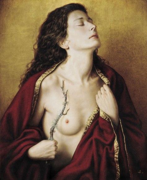 """PASSIO"" Egg tempera and oil / wood 72 x 58 cm. 1993"