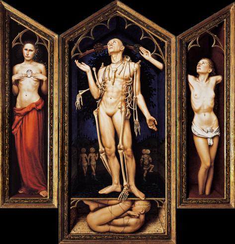""""""" Arbor Vitae"""" Oil / board Triptych: 160 x 126 cm 1994"""