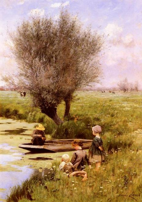"""Afternoon Along the River"" by Emile Claus"