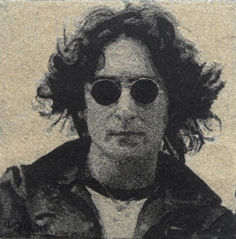 Sand Painting of John Lennon