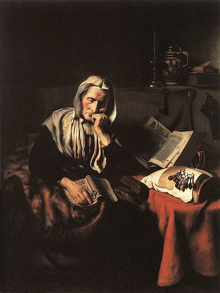 """Old Woman Dozing"" by Nicolaes Maes"