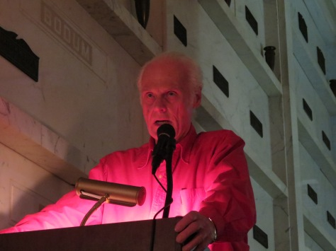 John Gilmore, main speaker for 2013 Death Hag convention at the Pasadena Mausoleum. Photo: Brian Donley