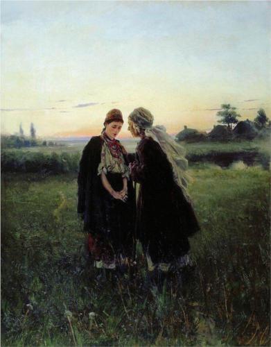 Mother and Daughter by Vladimir Makovsky
