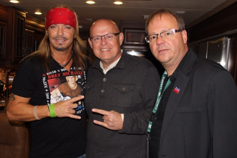 With Bret Michaels and Mike Hammond in Knoxville, Tennessee, November 1, 2014