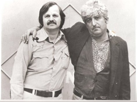 A.D. and late Beat poet Jack Micheline.  1976.