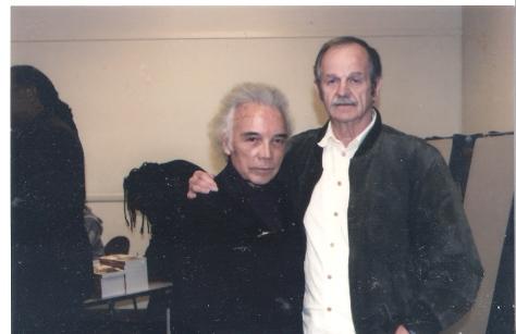 Novelist Floyd Salas and A.D.  at presentation of PEN Oakland awarding A.D. Lifetime Achievement Award.  Oakland, Ca 2009.