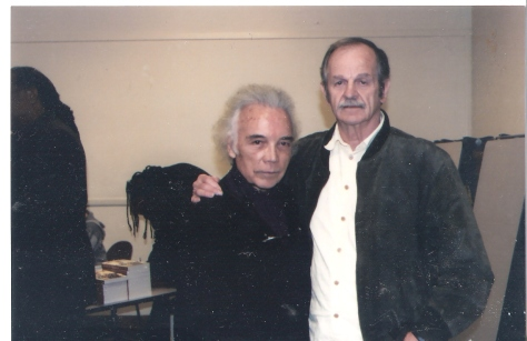 Novelist Floyd Salas and A.D.  at presentation of PEN Oakland awarding A.D. Lifetime Achievement Award.  Oakland, Ca 2009.