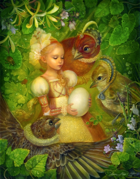 Thumbelina and the Egg
