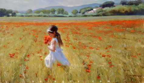 On poppy field, vlad