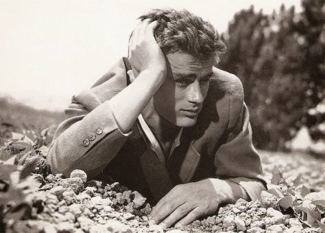 James Dean as Call Trask in the bean fields, East of Eden 1955
