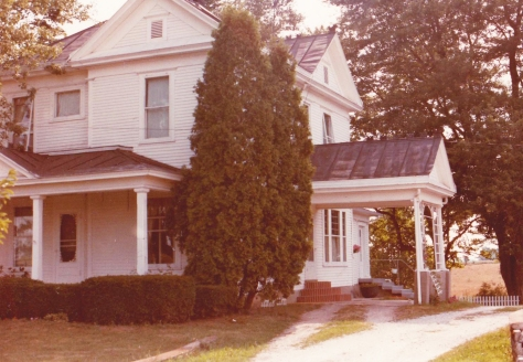 The Winslows' house (Jimmy's open window at top, far left)