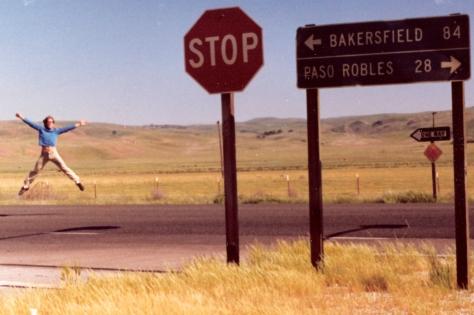 Ian Ayres @ James Dean crash site (May 1981)
