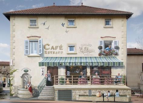 Café Reynaud mur ouest