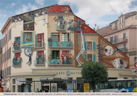 Cinéma Cannes le mur après