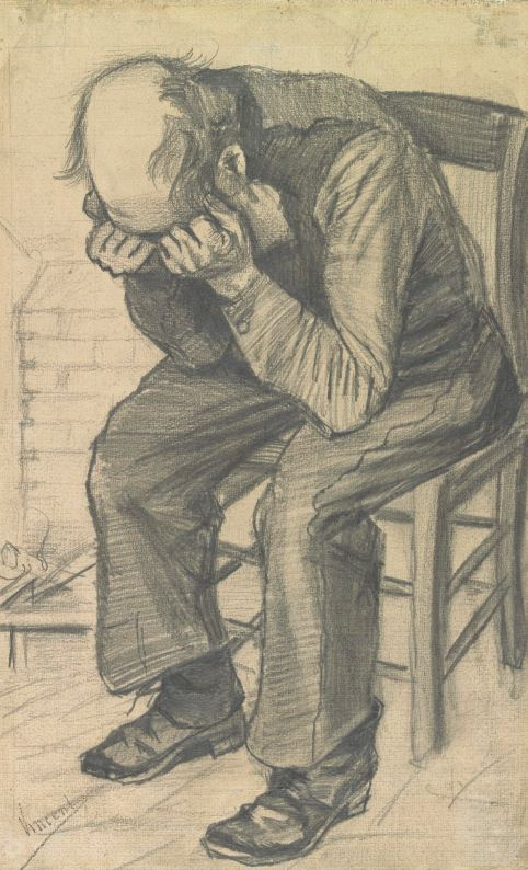 Old Man with his Head in his Hands